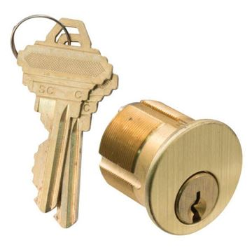 """Picture of GMS 1-1/8"""" Mortise Cylinder 5 Pin: C Keyway"""