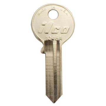 Picture of American Cylinder Lock 6-Pin Key Blank: Nickel Plated