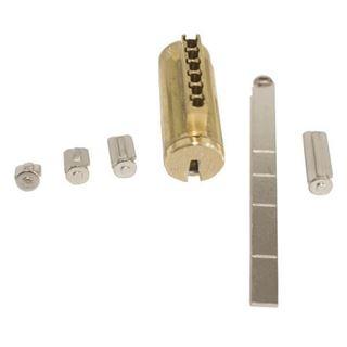 Picture of MEDECO Bi-Level 6-Pin Deadbolt Pack: FM Keyway: Satin Brass