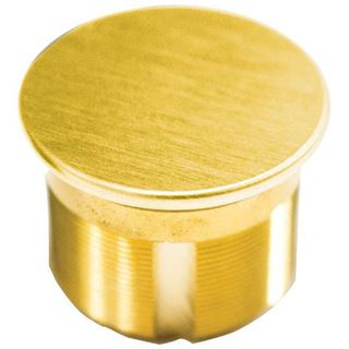 """Picture of Ilco 1-1/8"""" Dummy Mortise Cylinder; Bright Brass"""