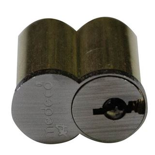 Picture of Medeco X4 6 Pin Small Format Interchangeable Core with Clip Retainer: Satin Chrome