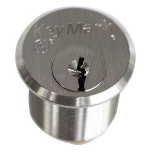 "Picture of MEDECO KEYMARK 1-1/8"" Mortise Cylinder: 7C Keyway: Satin Chrome"