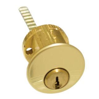 Picture of Ilco Rim Cylinder with screw cap; Bright Brass
