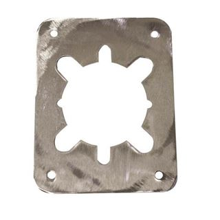 """Picture of DON JO 3-1/2"""" Remodeler Plate for Lever Lock: Stainless Steel"""